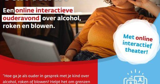 Online interactie ouderavond over roken, blowen en alcohol