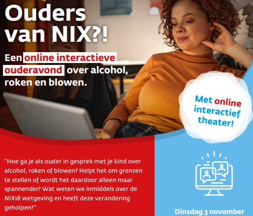 Online interactie ouderavond over roken, blowen en alcohol