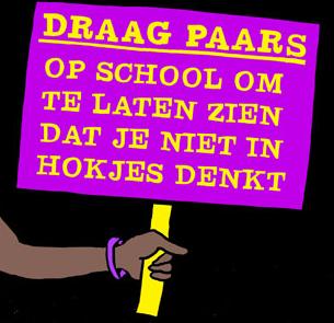 Vr. 11/12 kleurt de school paars!