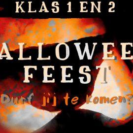 vr. 23/11 Halloweenfeest voor klas 1 en 2